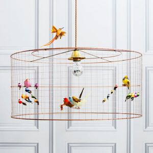 Copper Bird Cage Chandelier - ceiling lights