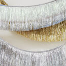 Silver Or Gold Tinsel Fringe Garland