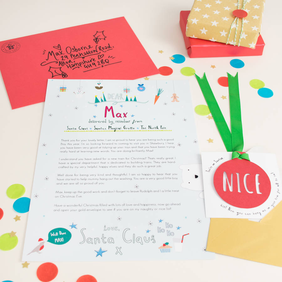 Personalised Letter From Santa By Rocks Design  NotonthehighstreetCom