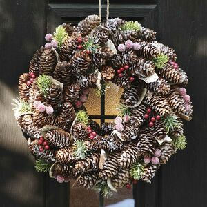 Luxury Winter Berries Pine Cone Christmas Wreath