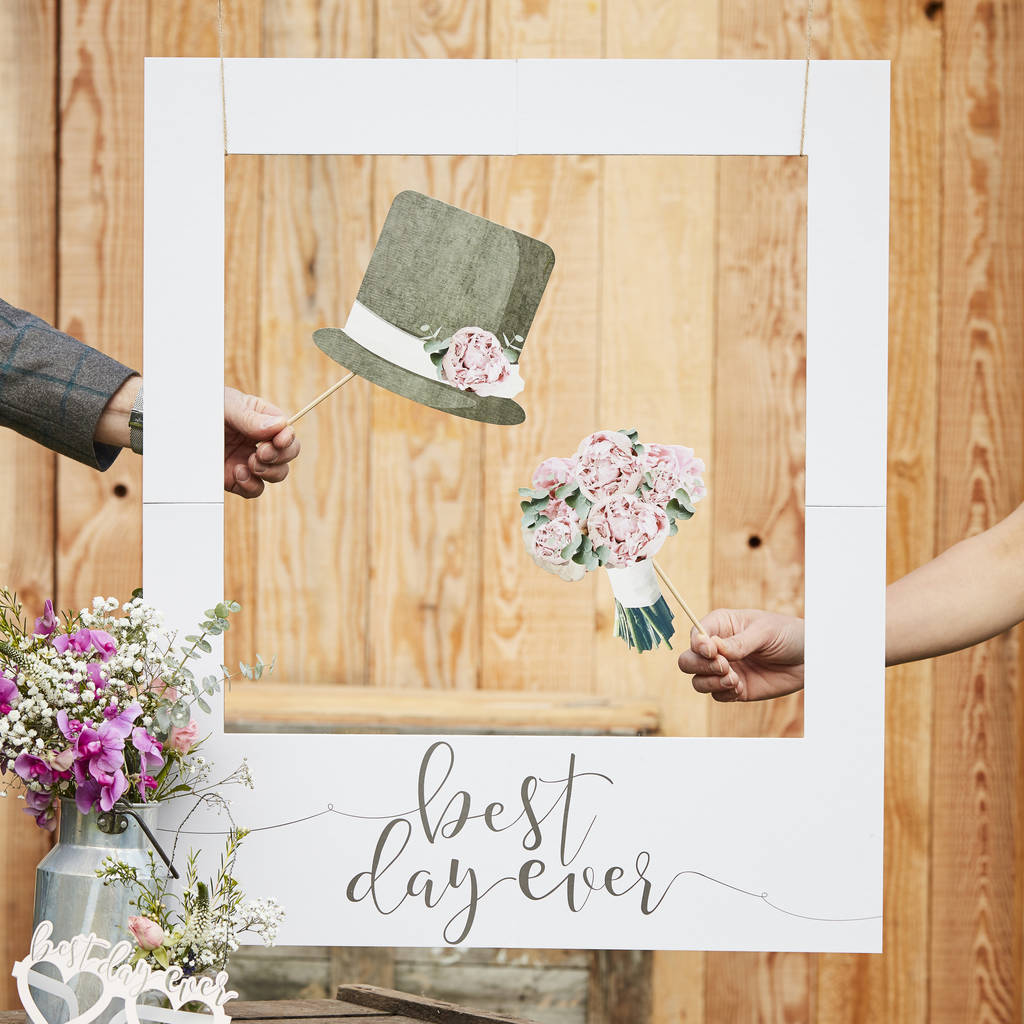 Giant photo booth frame wedding decoration by ginger ray giant photo booth frame wedding decoration junglespirit Gallery
