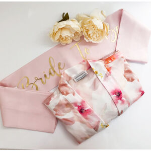 Floral Wedding Dressing Gown And Hen Party Sash Gift