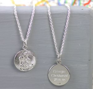 Childs Silver St Christopher Necklace - children's jewellery