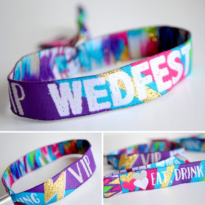 Wedfest Festival Wedding Wristbands - unusual favours