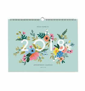 2018 Floral Appointment Wall Calendar