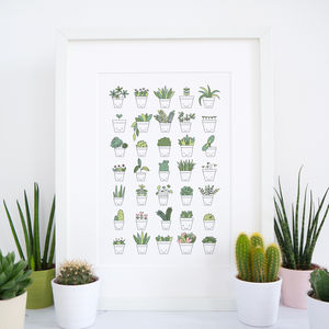 Plant Print - drawings & illustrations
