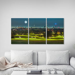 Primrose Hill Triptych Canvas Wall Art - paintings & canvases