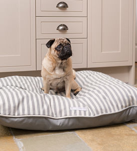 Flint Stripe Brushed Cotton Dog Beds - dogs