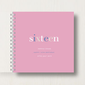 Personalised 16th Birthday Memory Book