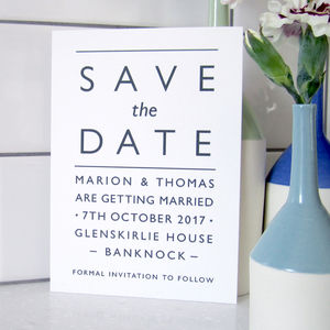 Modern Typography Wedding Save The Date Card - save the date cards