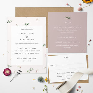 Floral Blush Wedding Invitation - brand new partners
