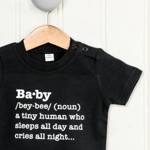 Baby Definition T Shirt