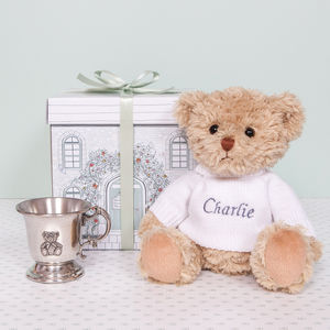 Bertie Bear's Traditional Pewter Christening Cup - gift sets