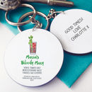 Personalised Bloody Mary Cocktail Message Keyring