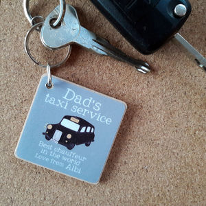 Personalised 'Dad's Taxi' Key Ring
