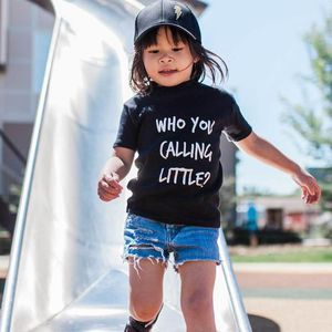 Who You Calling Little? T Shirt - the monochrome edit