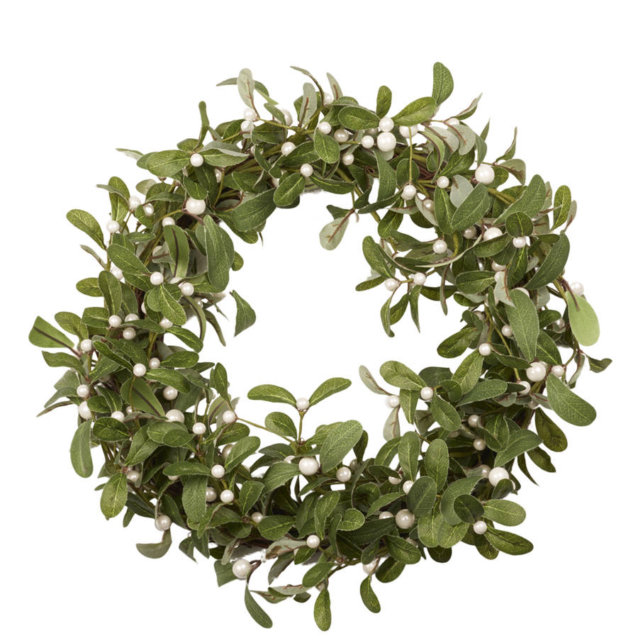 mistletoe christmas wreath - Mistletoe Christmas