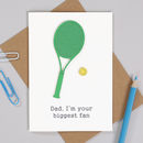Personalised Tennis Birthday Sport Card For Him