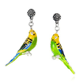 Baroque Budgerigar Earrings