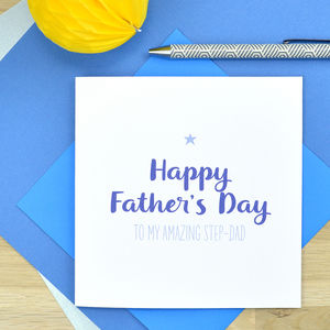 Amazing Step Dad Father's Day Card - father's day cards