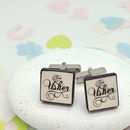 Usher Confetti Wedding Cufflinks