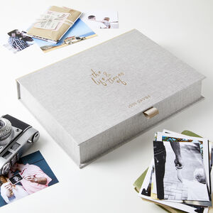 Personalised Life And Times Memory Box