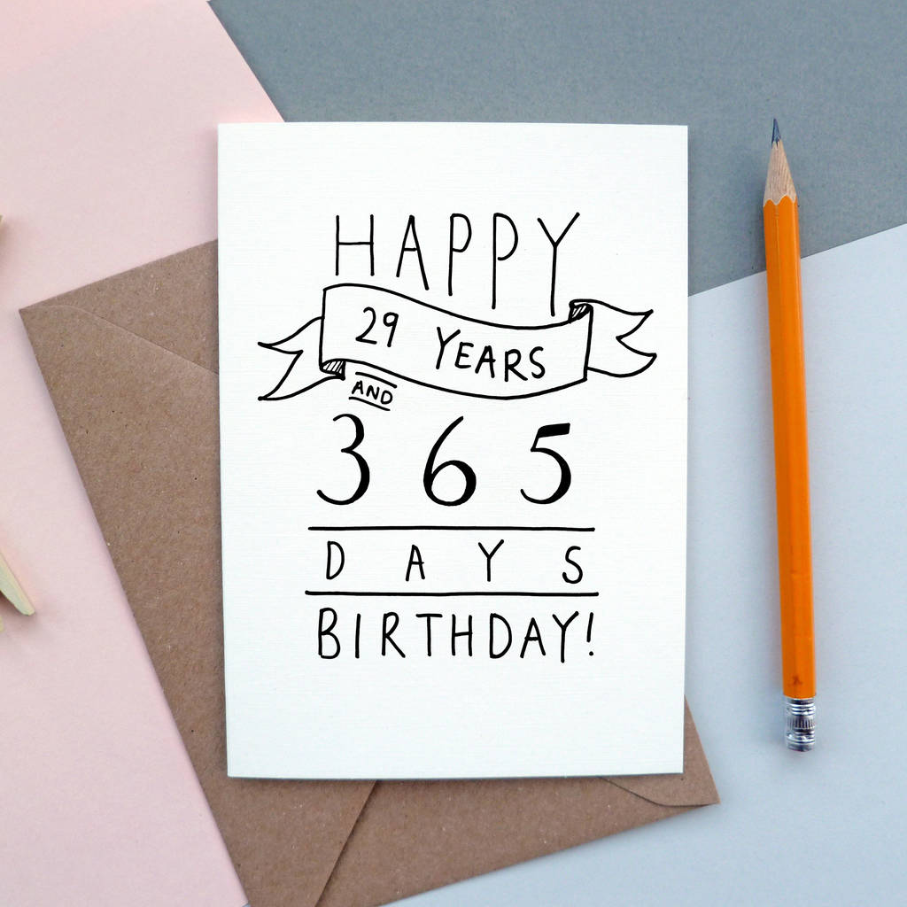 Happy 29 years and 365 days birthday 30th birthday card by oops a happy 29 years and 365 days birthday 30th birthday card bookmarktalkfo Images