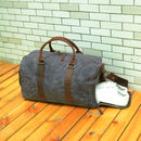 Waxed Canvas Boot Bag