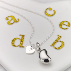 Personalised Signature Jelly Bean Necklace - christening jewellery