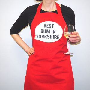 'Best Bum In Yorkshire' Apron - cooking & food preparation
