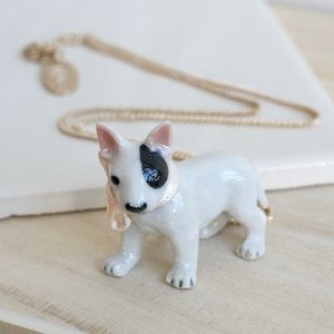 Porcelain Bull Terrier Necklace