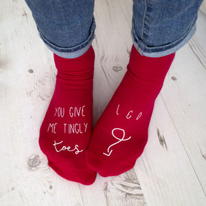 You Give Me Tingly Toes Personalised Socks - gifts for her