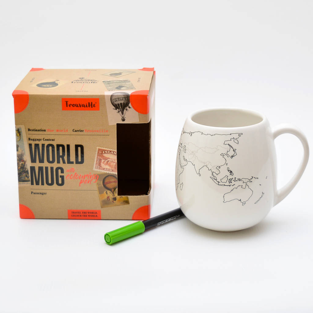 World Map Colour In Mug world map