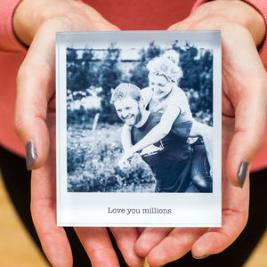 Personalised Photo Acrylic Block - photography & portraits