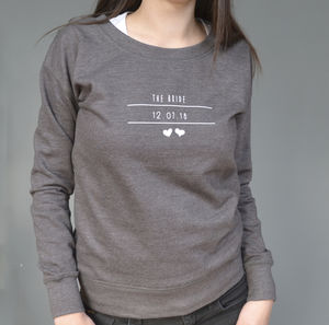 Personalised Bridal Party Sweatshirt - whatsnew