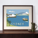 Sydney Harbour Retro Art Print