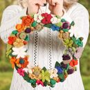 Handmade Wool Floral Wreath