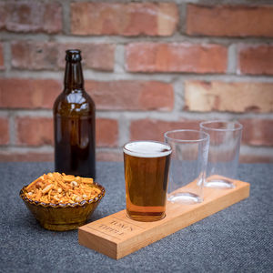 Personalised Three Beer Glass Tasting Paddle - view all new