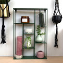 Rectangular Green Metal Display Shelf
