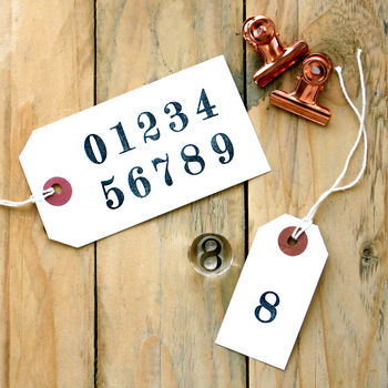 Number Set Clear Rubber Stamps