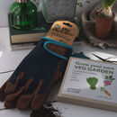 Men's Gardening Gloves With Grow Your Own Veg Seed Box