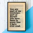 Wedding Gift Book Lover Print