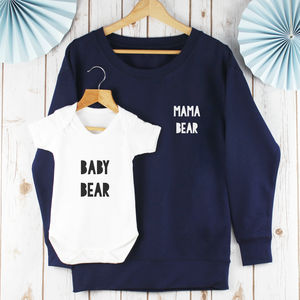 Mama Bear And Baby Bear Twinning Sweatshirt Set