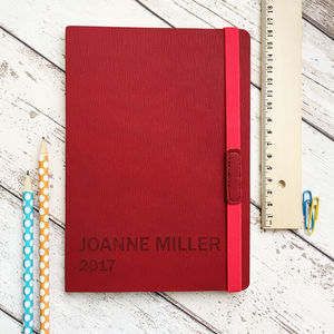 Personalised 2018 Journal Notebook - stocking fillers for him