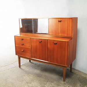 1970's Mid Century Highboard / Tall Sideboard By Nathan - dressers & sideboards