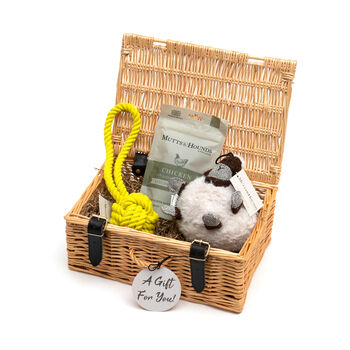 Mutts And Hounds Dog Gift Hamper Toys And Treats