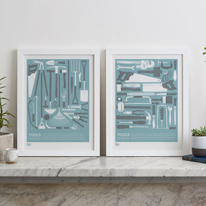 Garden And Work Bench Tools Screen Prints - valentine's gifts for him