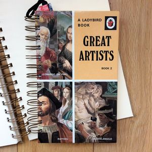 'Great Artists' Upcycled Notebook