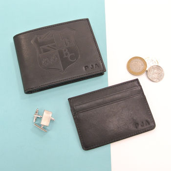 Personalised Leather Wallet And Card Holder