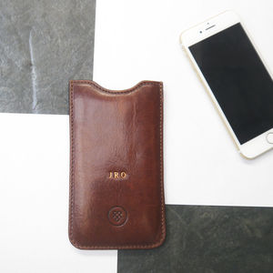 Personalised Leather Sleeve For iPhone Seven.'Gruppo' - tech accessories for her